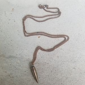 Jewelry - Copper Bullet Shell Long Metal Necklace